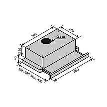 Вытяжка VENTOLUX GARDA 60 INOX (800) SMD LED, фото 2