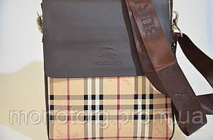 Мужская сумка Burberry через плечо коричнево-бежевая