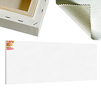 Холст на подрамнике Factura BelleArti 3D 100х300 см Итальянский хлопок 285 грамм кв.м. среднее зерно белый