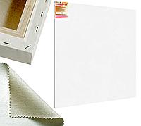 Холст на подрамнике Factura BelleArti 3D 150х150 см Итальянский хлопок 285 грамм кв.м. среднее зерно белый