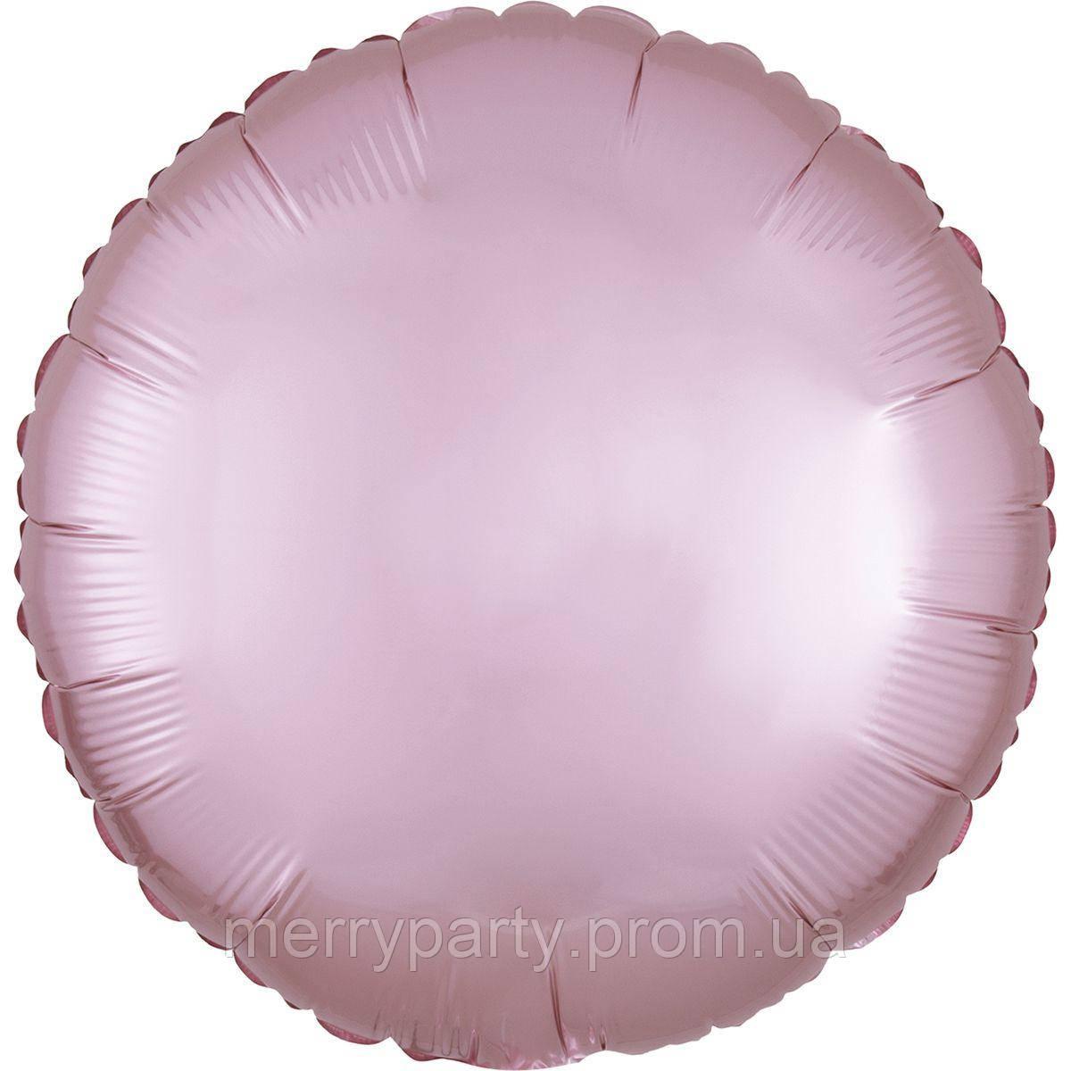 """18"""" (45 см) Коло сатин світло-рожевий Anagram США куля фольгований"""