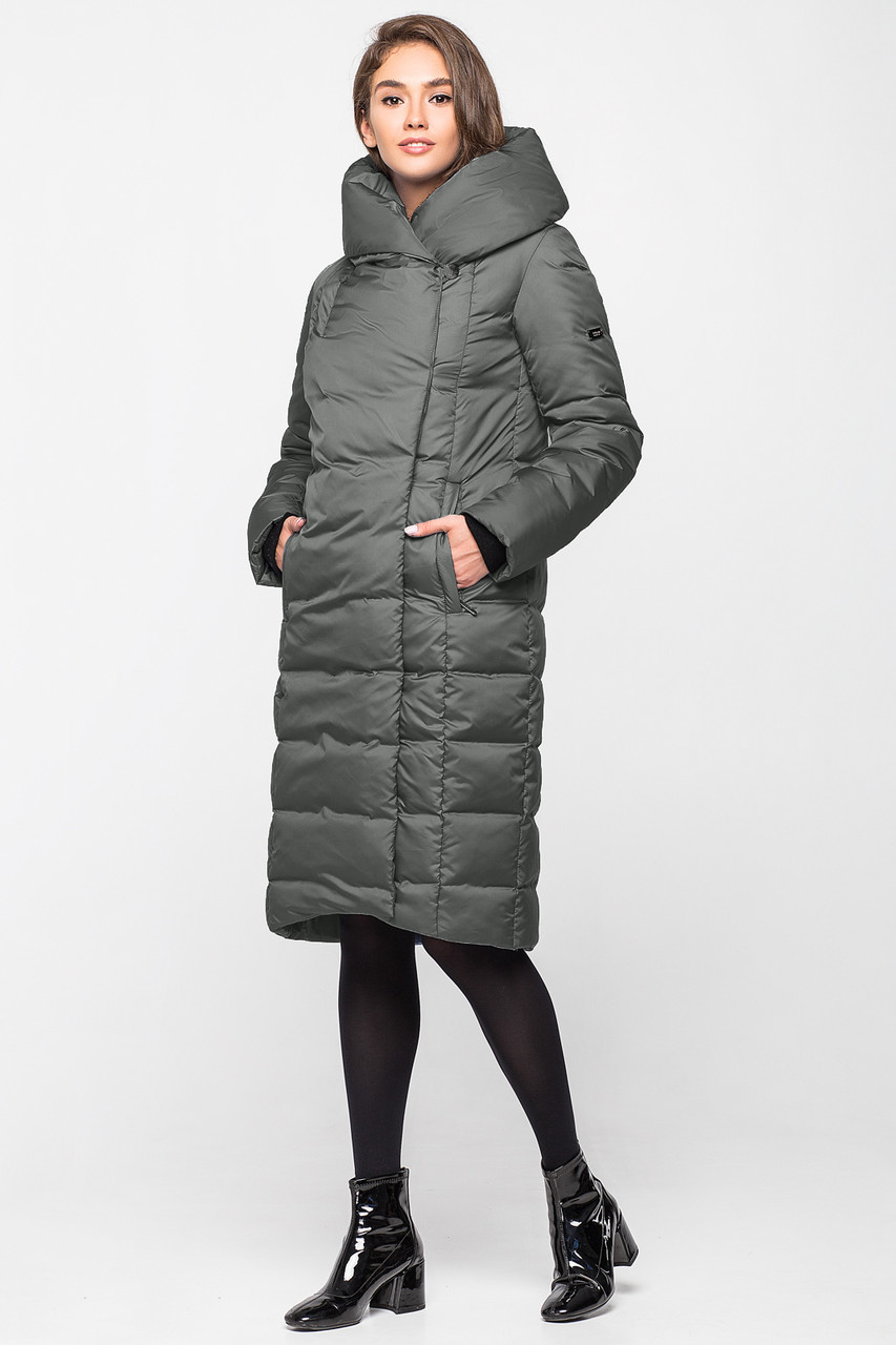 Теплая зимняя женская курточка KTL-223 -пеп. хаки (#641)