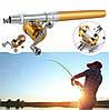 Карманная мини портативная удочка Pocket Pen Fishing Rod с катушкой Gold, фото 5