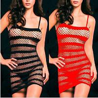 Эротическое белье: платье сетка красное'