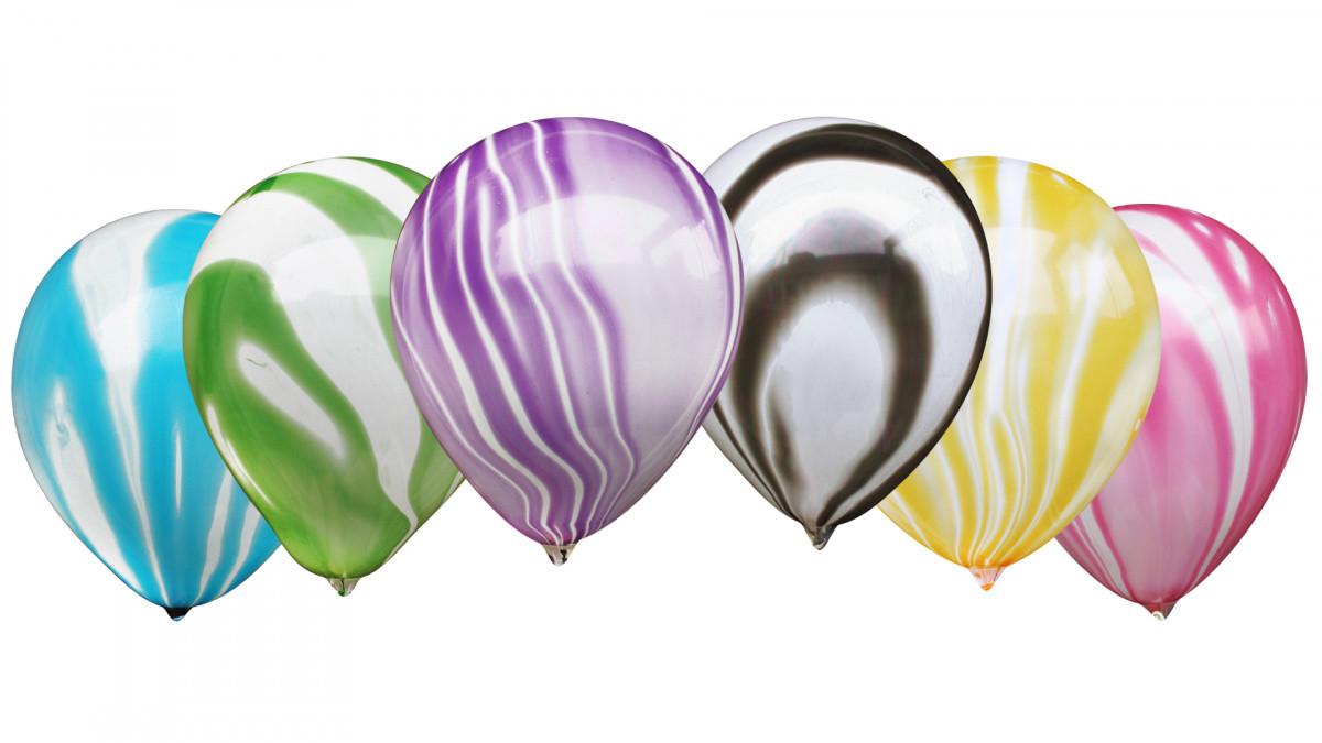 """Латексні кульки агати асорті (30 см) 12"""" ТМ MULTITEX Китай"""