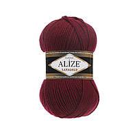 Пряжа для вязания ALIZE LANAGOLD,цвет 57 ,51% Акрил, 49% Шерсть