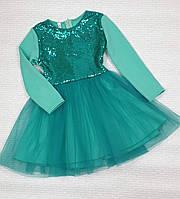 Нарядное платье на девочку Золушка с пайеткой р. 146, мята