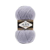 Пряжа для вязания ALIZE LANAGOLD,цвет 200 ,51% Акрил, 49% Шерсть