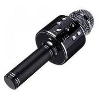 Беспроводной караоке микрофон WSTER 858 черный Original