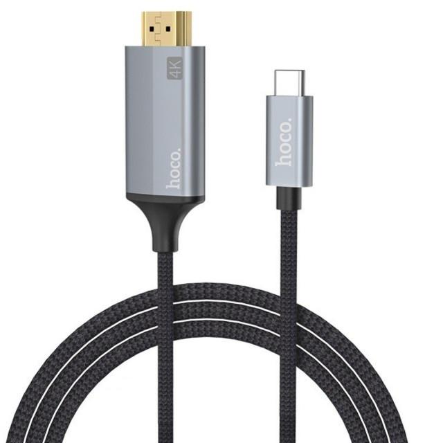 Адаптер Hoco UA13 Type-C to HDMI cable adapter Grey