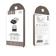 Адаптер Hoco UA6 USB to Type-C converter Black, фото 2