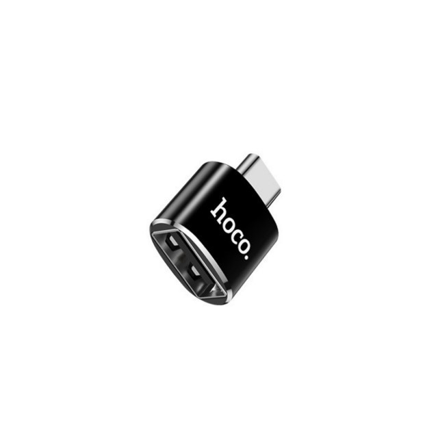 Адаптер Hoco UA5 Type-C to USB converter Black