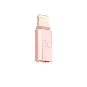 Адаптер Hoco Lightning to Micro Rose Gold