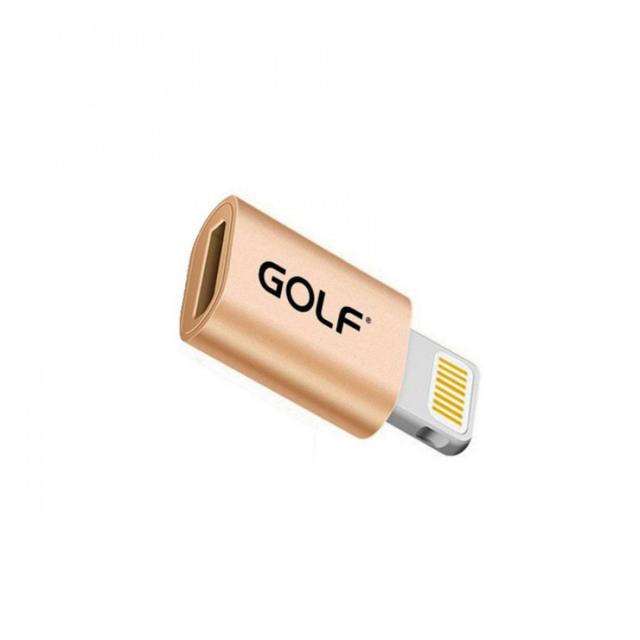 Адаптер Golf GC-31 Micro to Lightning Gold