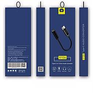 Адаптер WUW X106 Type-C to 3.5mm Black, фото 2