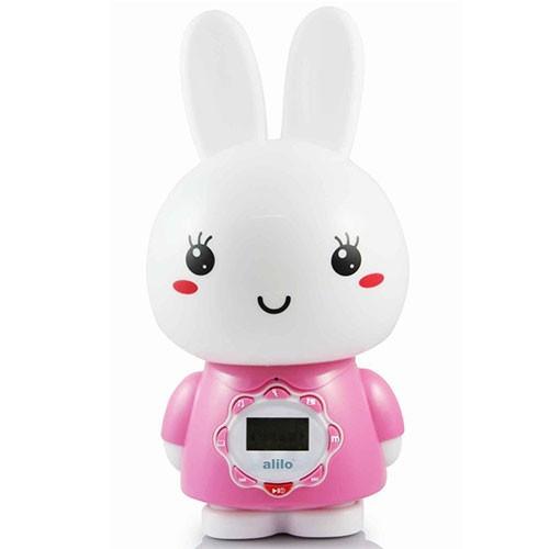 Игрушка-ночник большой зайка Alilo G7 Розовый