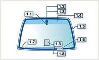 Заднее стекло на Тойоту - Toyota Camry, Auris, Avensis, Corolla, Prado, RAV 4, Yaris с обогревом
