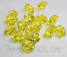 Искусственный лёд желтый. Размер 19-24мм