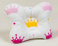 Подушка для новорожденных ортопедическая BabySoon Принцесса размер 22 х 26 см (133)