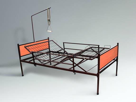 Аренда медицинской функциональной четырехсекционной кровати на колесах для лежачих больных, фото 2