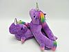 Женские тапочки игрушки фиолетовые Единороги