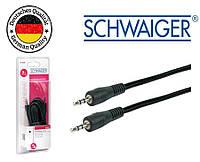AUX аудио кабель 3,5 - 3,5 / Jack-Jack Schwaiger черный 3м