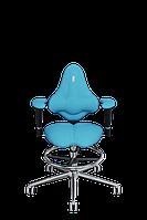 Детское эргономичное кресло KULIK SYSTEM KIDS Бирюзовое (1503)