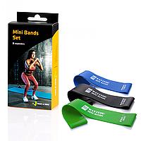 Эспандеры фитнес резинки для ног Mini Bands. Набор из 3 шт.