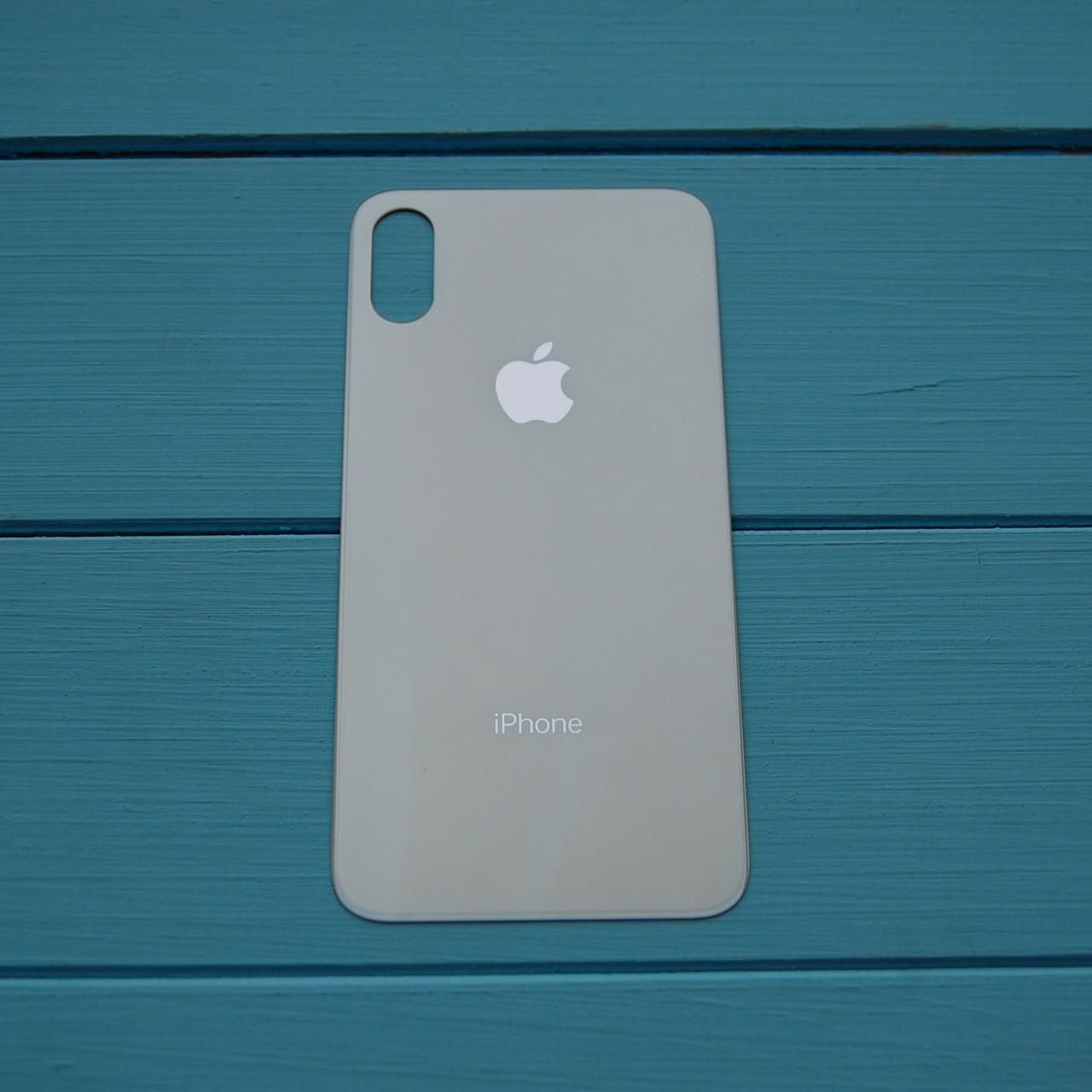 Задняя панель корпуса Apple iPhone XS Silver Big Hole