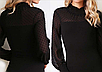 Женское сексуальное, однотонное, шифоновое, облегающее, кружевное боди с длинным рукавом  ITFABS Slava, фото 2