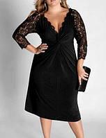 Маленькое черное платье большого размера для полных 50-52 RP-60679