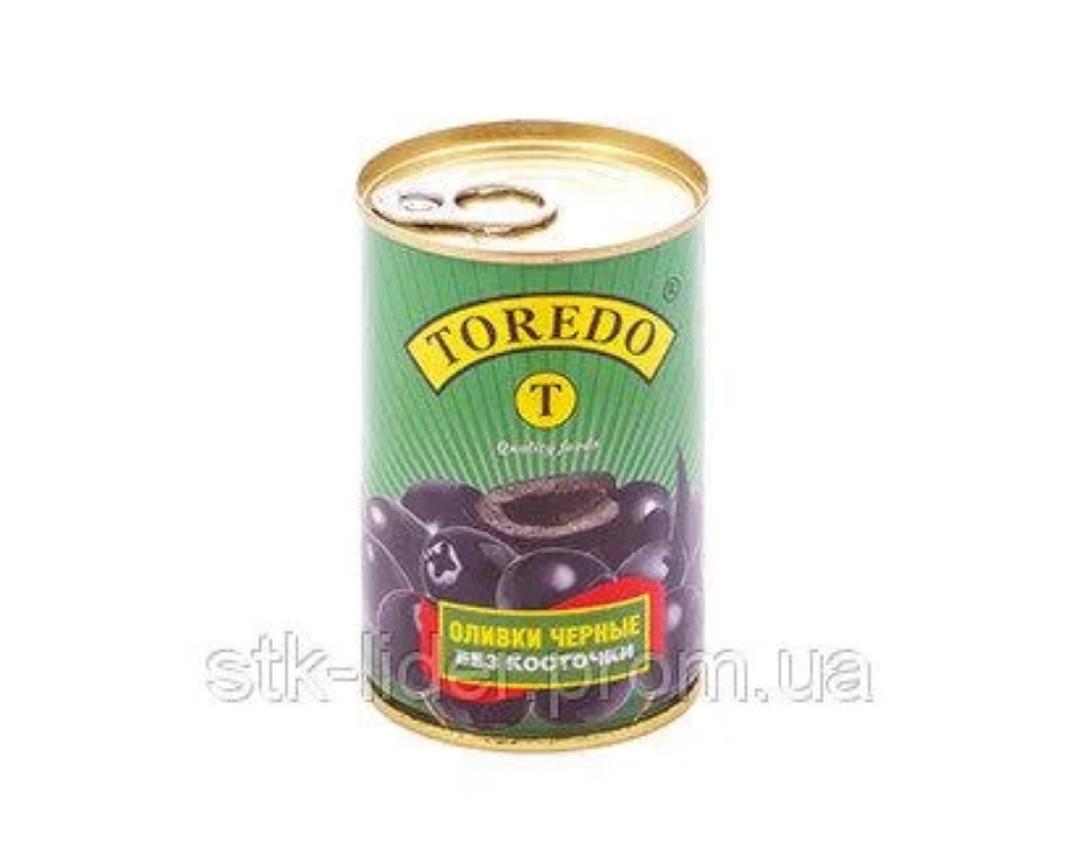 """Маслины черные без косточки 280г """"Торедо"""""""