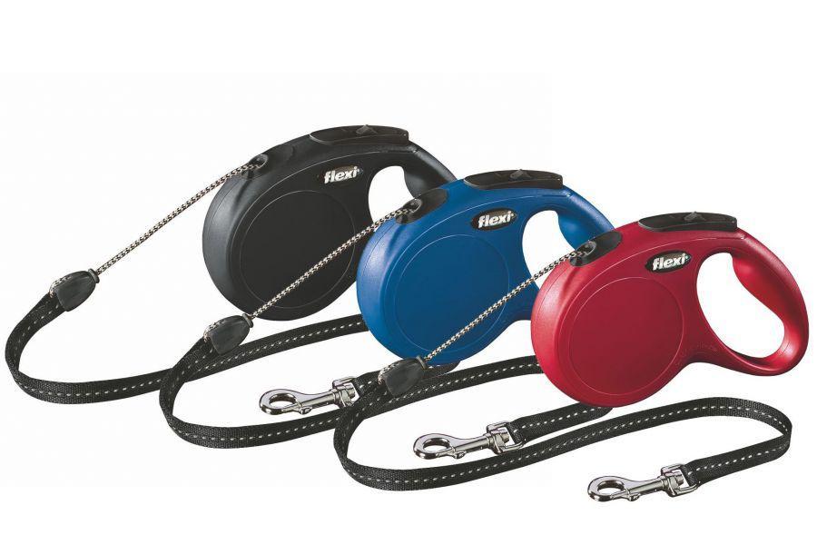 Поводок рулетка FLEXI Classic M,  для собак вагою до 20 кг, трос 5 метрів