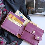 Шкіряний гаманець «Gazda» з відділом для монет