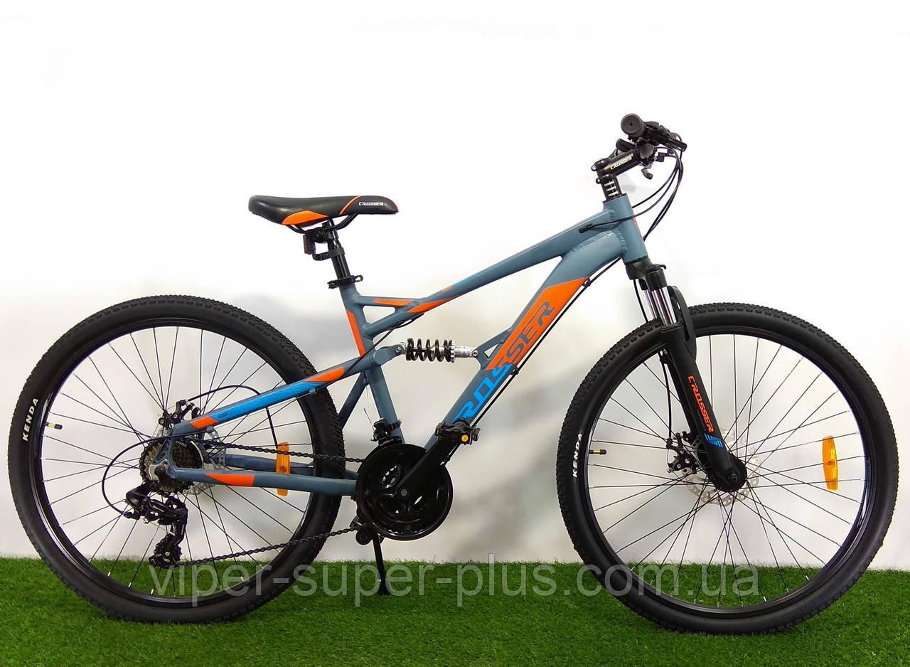 Гірський двопідвісний велосипед Crosser Stanley 26