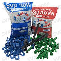 Система выравнивания плитки NOVA (Основа 500шт 1мм + Клин 200шт + Инструмент)