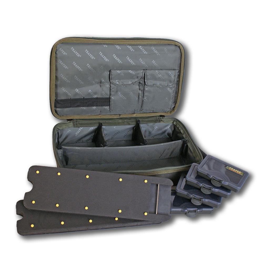 Кейс для снастей + 4 коробки Traper Excellence