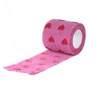 Эластичный бинт для собак Show Tech Self-Cling Bandage Pink