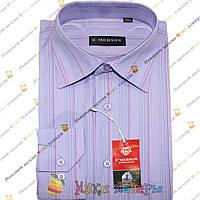 Мужские рубашки с полосками Длинный рукав Ворот: 38- 46 (ar17-4)