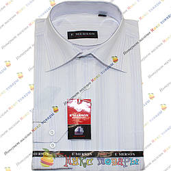 Мужские рубашки с полосками Длинный рукав Ворот: 38- 46 (ar17-5)