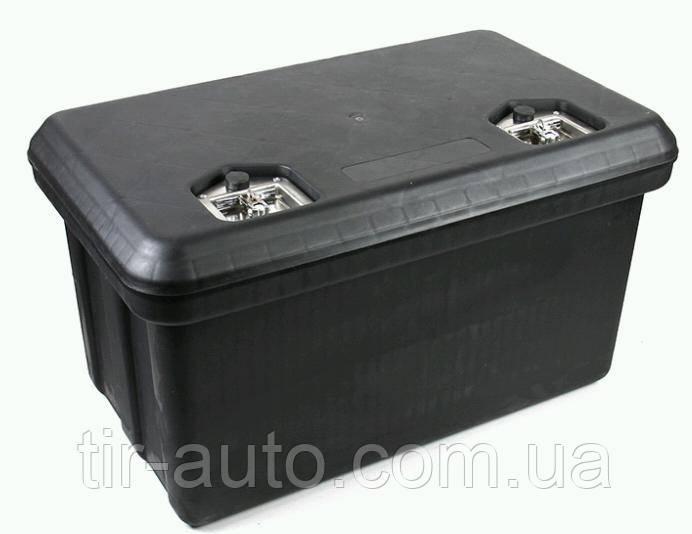 Ящик для інструменту 80 літрів, два замку, чорний ( 800x500x440 ) ( 11786CNT )