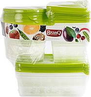 Набор пищевых емкостей для хранения и заморозки BranQ 17 шт.