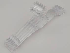 Плечики длина 30 см, в упаковке 10 штук.  V-N30ps цвет прозрачный, фото 3