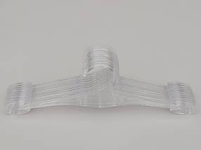 Плечики длина 30 см, в упаковке 10 штук.  V-N30ps цвет прозрачный, фото 2