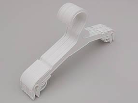 Плічка довжина 27 см, в упаковці 10 штук. V-N227 білого кольору, фото 3