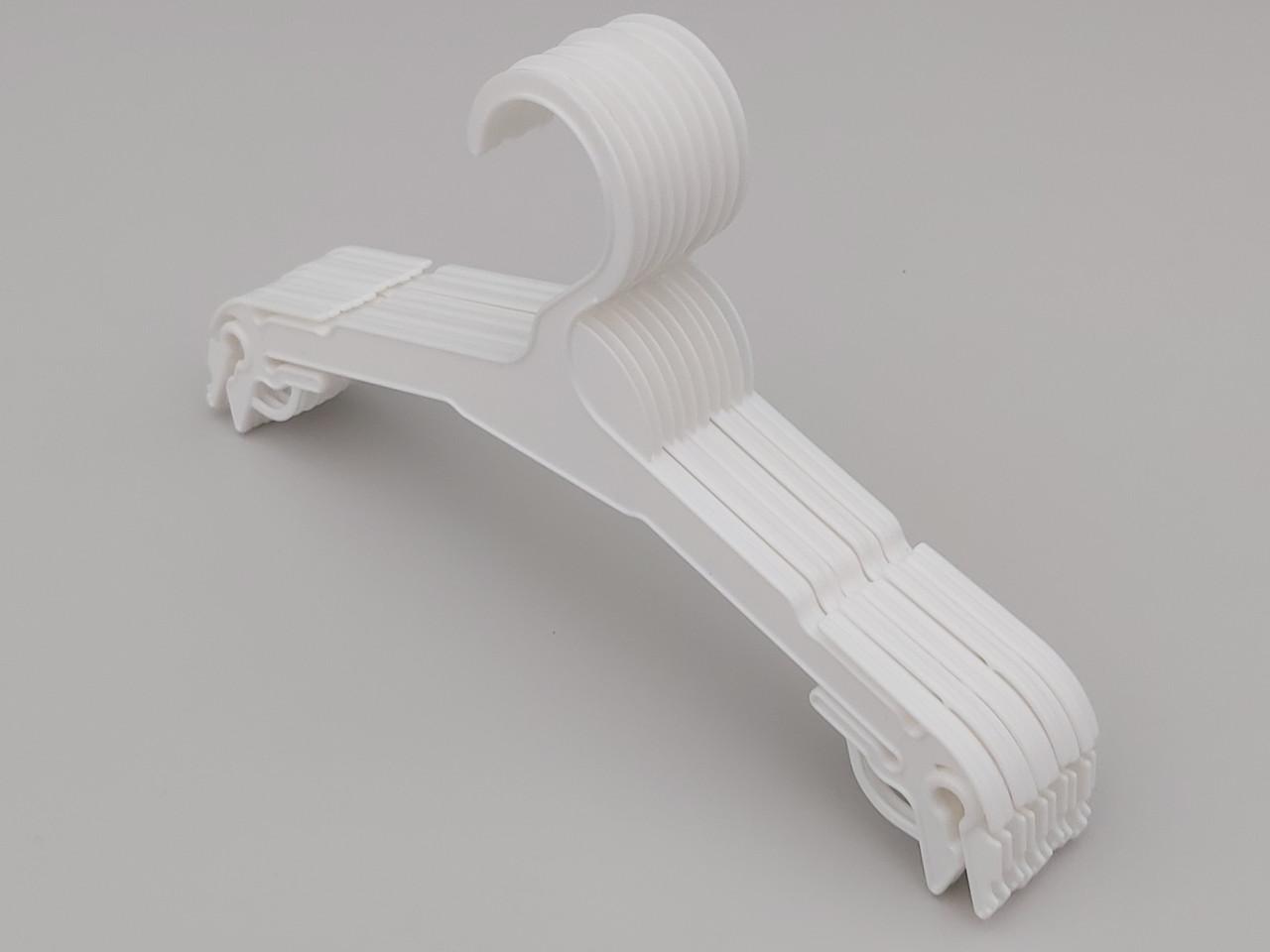 Плічка довжина 27 см, в упаковці 10 штук. V-N227 білого кольору