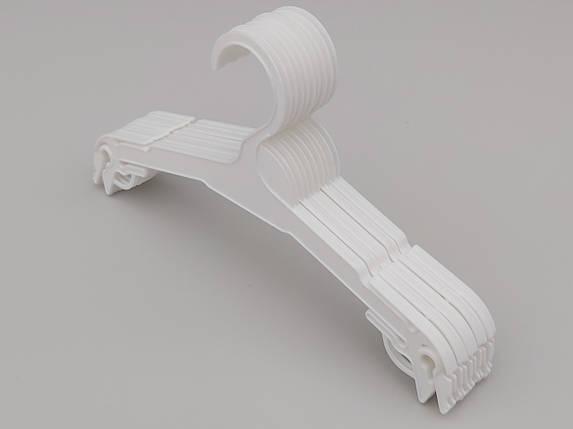 Плічка довжина 27 см, в упаковці 10 штук. V-N227 білого кольору, фото 2