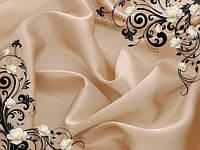 Фотообои атласная ткань и 3d розы разные текстуры , индивидуальный размер