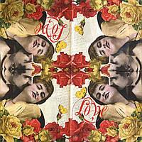 "Салфетка декупажная 33x33 см 15 ""Романтика Любовь Старое фото Ретро Винтаж Цветы"" Серветка для декупажу"