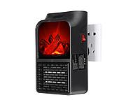 Обогреватель портативный Flame Heater с LCD-дисплеем и пультом 1000 Вт Флейм Хетер